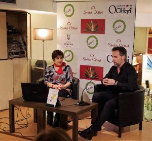 """Presentación de """"El cascabel, con el escritor Teo Basterra (Logroño, marzo, 2016)"""